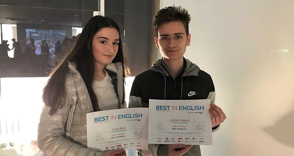 PPG – natjecanje Best in English – dodjela diploma