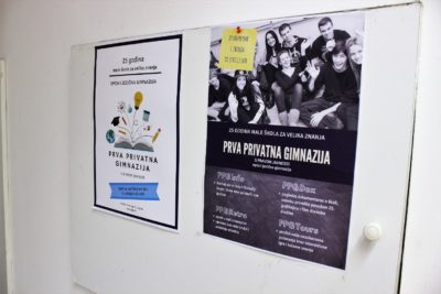 Prva privatna gimnazija – Otvoreni dan 2018. – plakat